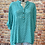 Thumbnail: Teal Polka Dot cotton top, fitting up to a size 18