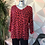 Thumbnail: Red leopard print top, fitting sizes 10-16.      1779