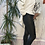 Thumbnail: Black biker leather look jegging fitting 8-10