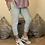 Thumbnail: Silver Magic Plain Super Stretch Crushed Trousers fitting 8-18
