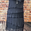 Thumbnail: Navy silky layer dress, fitting sizes 8-16