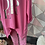 Thumbnail: Cerise AMORE Silver foil  quirky sweat top fitting up to a size 22