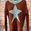Thumbnail: Rust chunky knit star jumper, fits sizes up to 14