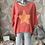 Thumbnail: Coral Neon Star top, fitting up to a size 14