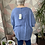 Thumbnail: Denim blue button top/blouse, fitting up to a size 24