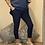 Thumbnail: Navy  blue Magic Plain Super Stretch Crushed Trousers fitting 8-18