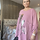 Thumbnail: Pink with Foil print floaty top fitting size 10-20