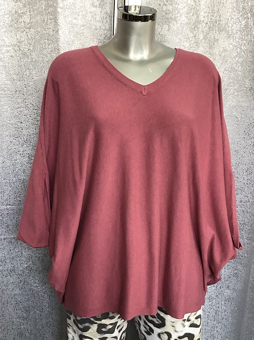 Raspberry soft knit superbelle jumper, fitting from a size 12-18.   7130