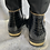 Thumbnail: Knee high black patent look boots