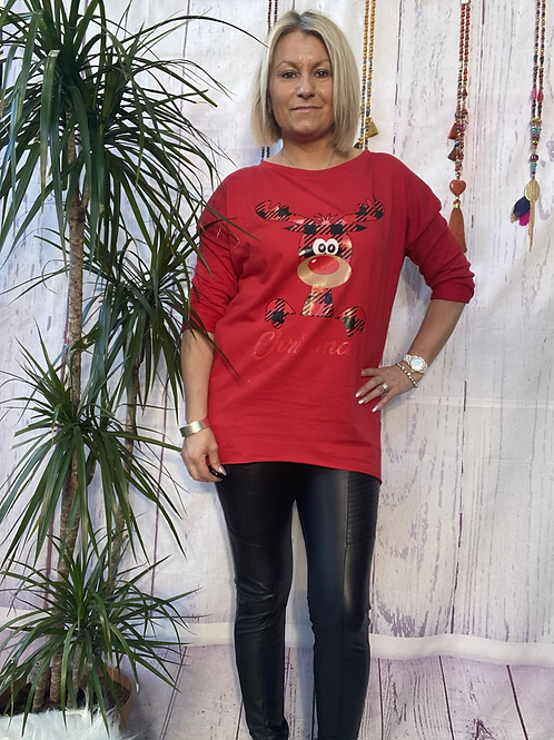 Red rudolf top, fitting up to a size 16,    12111