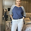 Thumbnail: White cargo Magic  Stretch Crushed Trousers fitting 8-18