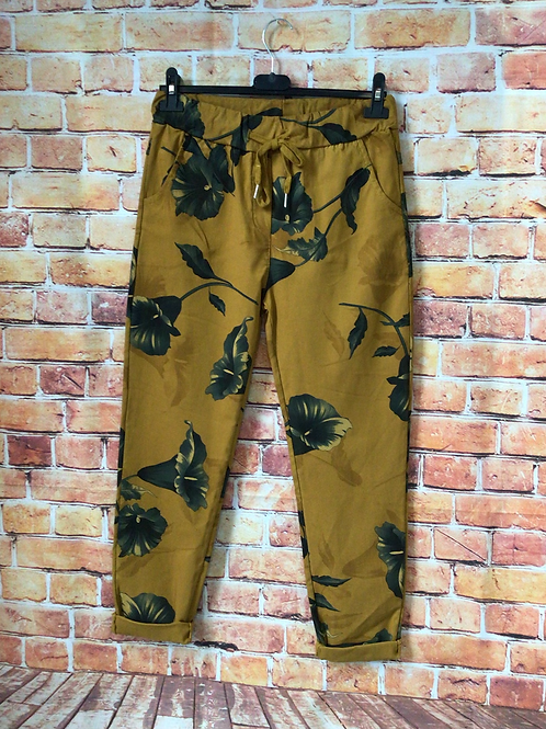 Mustard 'wow' pants. Fits up to size 16