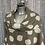Thumbnail: Beige linen cowl neck spotty top fitting up to a size 24