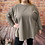 Thumbnail: Stone quirky elasticated top, fitting up to a size 22