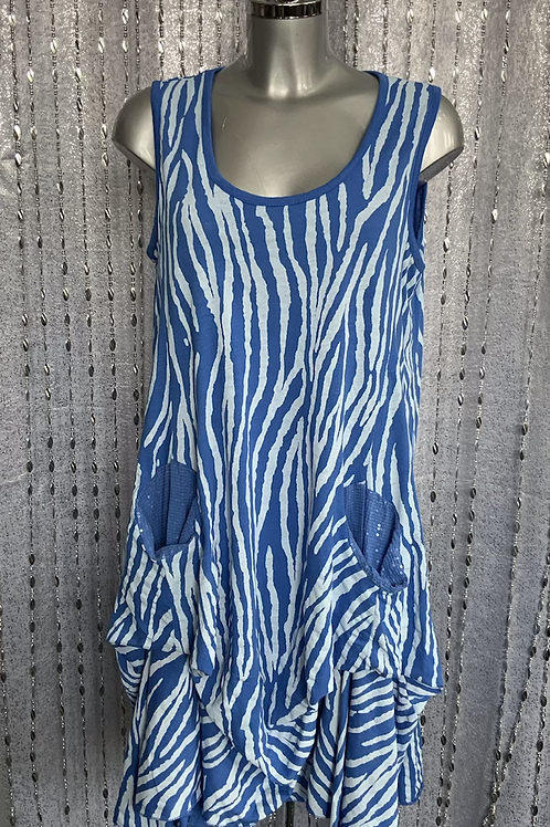 Royal Blue Picket Top fitting size 12 to 20