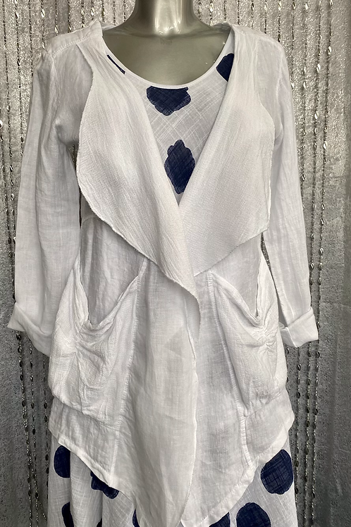 White Obsession Edge to Edge Quirky Jacket