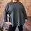 Thumbnail: Charcoal quirky elasticated top, fitting up to a size 22