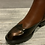 Thumbnail: Two tone brown and bronze ankle boots