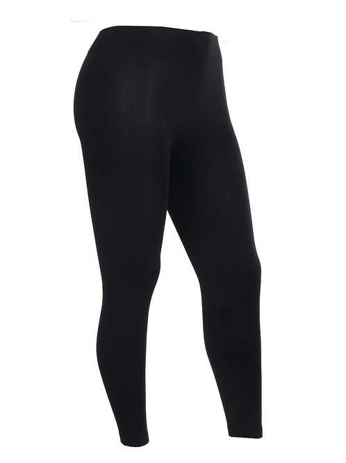 Black Super Soft Fleece Lined Seamless Warm Leggings 8-16