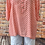 Thumbnail: Coral Polka Dot cotton top, fitting up to a size 18
