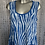 Thumbnail: Royal Blue Picket Top fitting size 12 to 20
