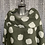 Thumbnail: Khaki linen cowl neck spotty top fitting up to a size 24