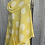 Thumbnail: Lemon  linen cowl neck spotty top fitting up to a size 24
