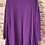Thumbnail: Purple Cardigan with lace style inlay