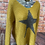 Thumbnail: Mustard chunky knit star jumper, fits sizes up to 14