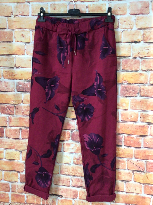 Wine 'wow' pants. Fits up to size 16