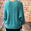 Thumbnail: Teal Slouchy batwing jumper