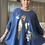 Thumbnail: Navy with Foil print floaty top fitting size 10-20