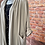 Thumbnail: Beige cardigan with drawstring at the back
