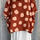 Thumbnail: Rust  linen cowl neck spotty top fitting up to a size 24