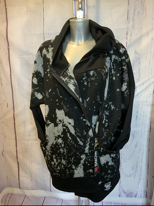 Black and grey zip jacket fitting from size 10 to 18