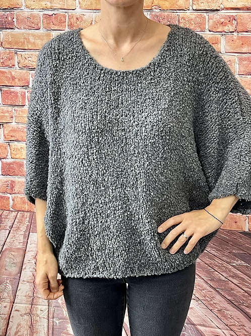 Charcoal slouchy teddy jumper, fitting from a 12 to 20