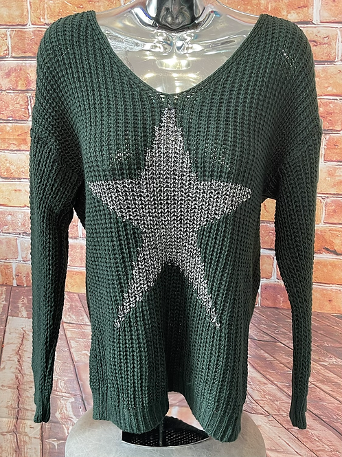 Forest chunky knit star jumper, fits sizes up to 14