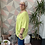 Thumbnail: Lime button top/blouse, fitting up to a size 24