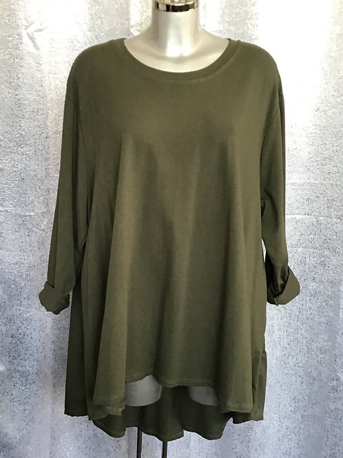 Khaki fan back top fitting up to a size 24  0808