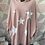 Thumbnail: Blush stars hooded top fitting up to a size 24