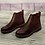 Thumbnail: Wine patent and leather look ankle boot