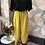 Thumbnail: Mustard linen full length quirky pocket trousers