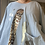 Thumbnail: Blue with Foil print floaty top fitting size 10-20