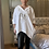 Thumbnail: White  v-neck hooded sequin heart Top fitting up to a size 22