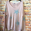 Thumbnail: Pale pink knitted star pattern jumper, fitting sizes 8-12
