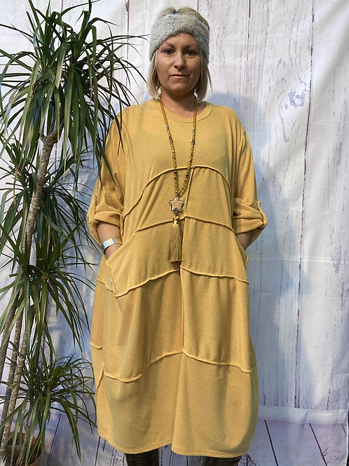 Mustard Terry dress, fitting up to a size 22.    1510