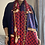 Thumbnail: Navy and red silky scarf