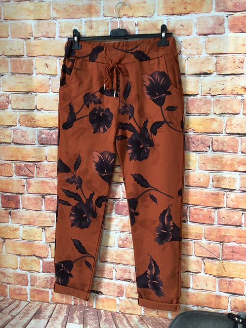 Rust 'wow' pants. Fits up to size 16
