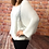 Thumbnail: White Slouchy batwing jumper