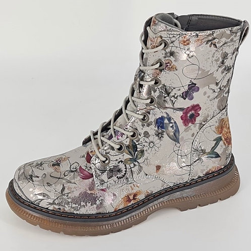 Annette CIPRIATA Silver and  Floral Boot.